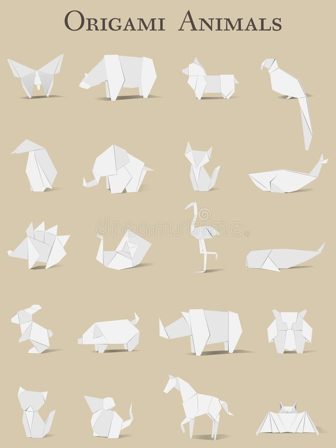 Animal origami vector isolated on background royalty free illustration