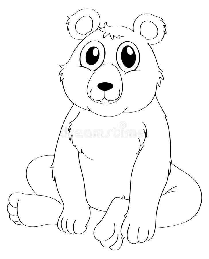 download animal outline for bear sitting stock vector illustration of cute isolated 89738186 - Outline Of A Bear