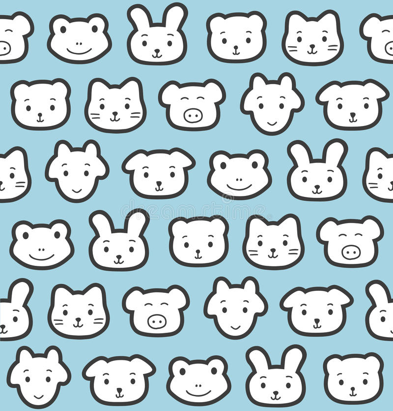 Download Animal pattern stock vector. Image of monochrome, graphic - 24931067
