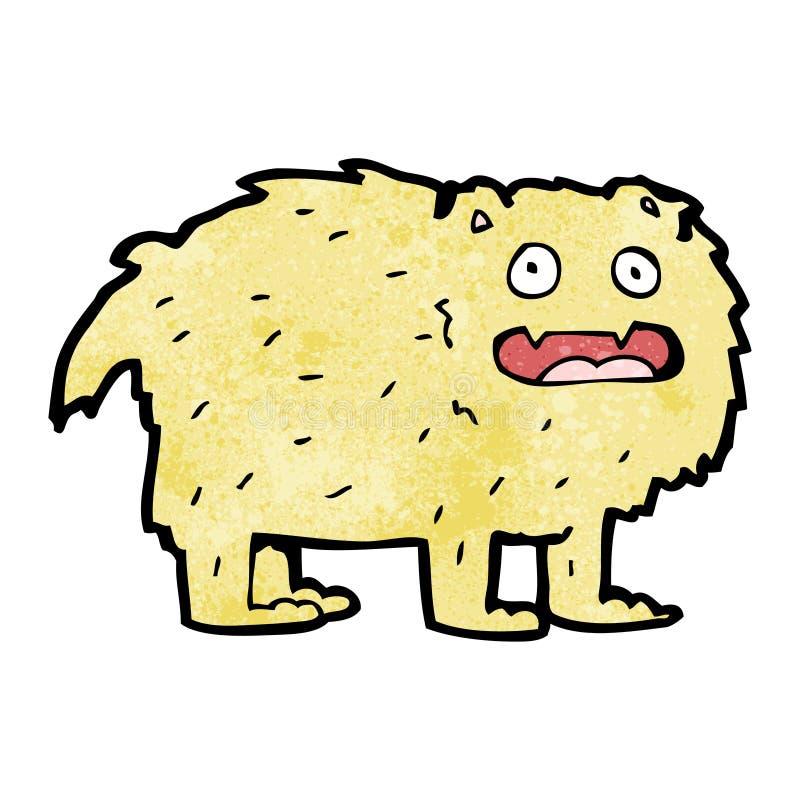 animal peludo dos desenhos animados ilustração royalty free