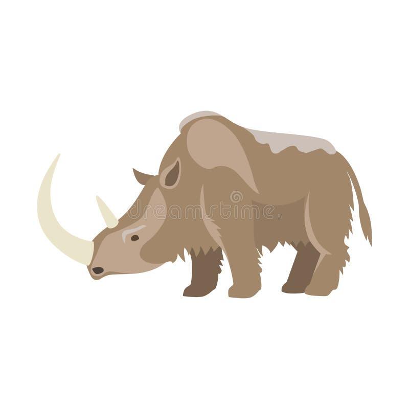 Animal prehistórico de la edad de hielo libre illustration