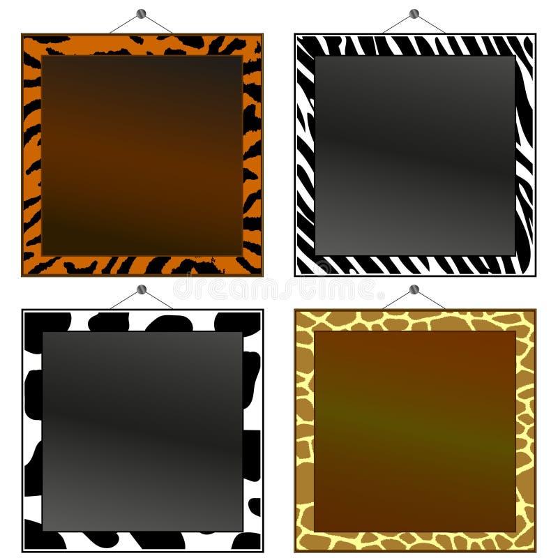 Animal print frames royalty free illustration