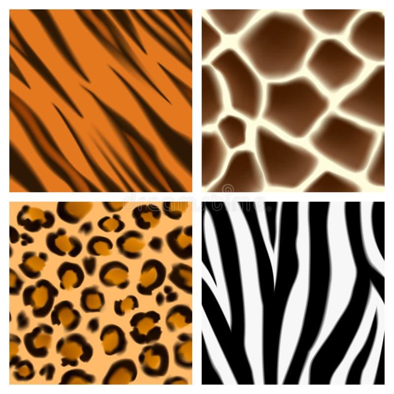 Animal print seamless patterns stock illustration