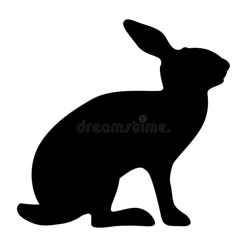 rabbit vector illustration profile side black silhouette stock rh dreamstime com rabbit vector logo rabbit vector silhouette