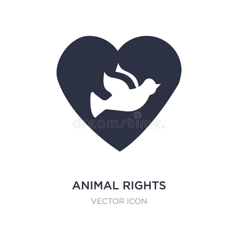 animal rights icon on white background. Simple element illustration from Charity concept vector illustration