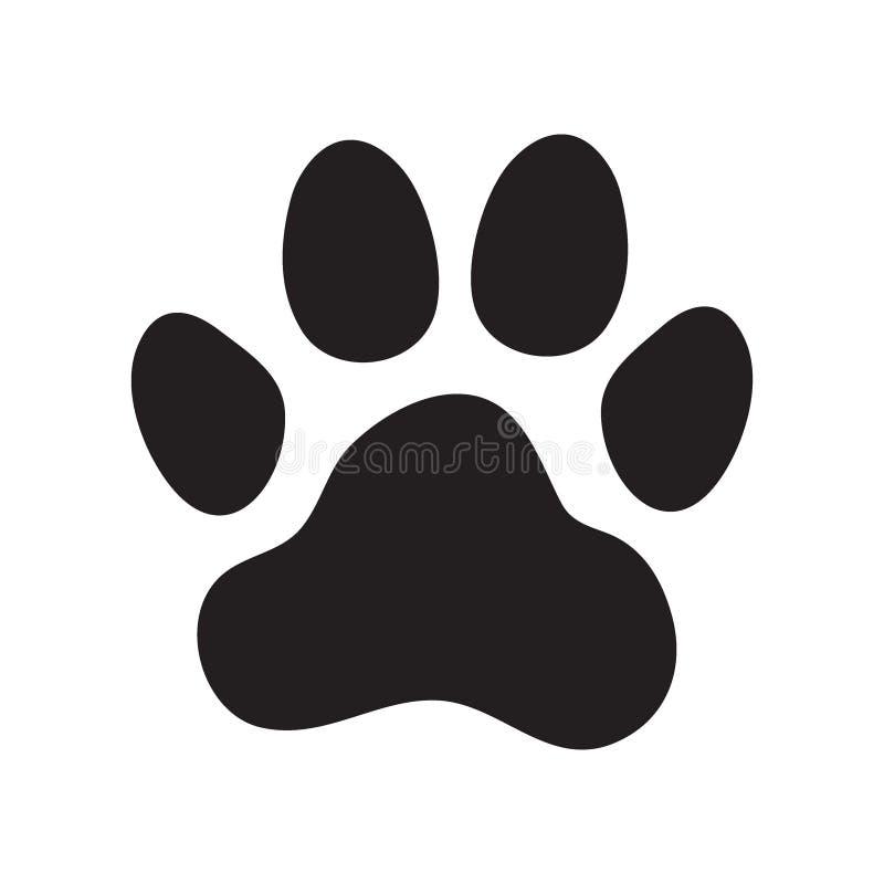 Animal dog paw print. Animals dog paw print. Icon. Vector illustration stock illustration