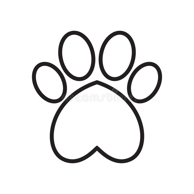Free Animal`s Dog`s Paw Print With Heart Royalty Free Stock Image - 138360616