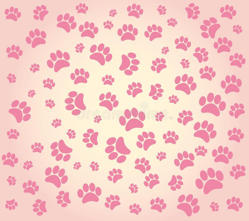 Animal S Footprints Background Stock Photography