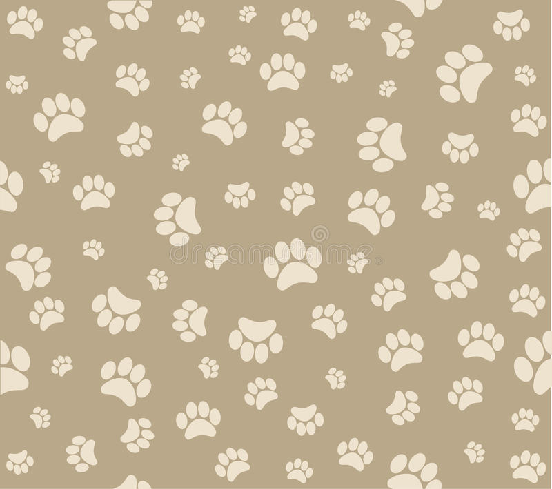 Download Animal's Footprints Background Stock Vector - Image: 25031028