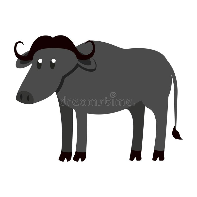 Animal salvaje del búfalo libre illustration