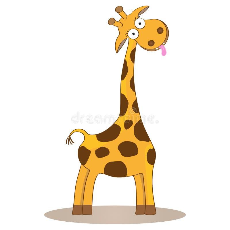Animal salvaje del safari del carácter de la historieta de la jirafa del vector del ejemplo lindo divertido del niño stock de ilustración