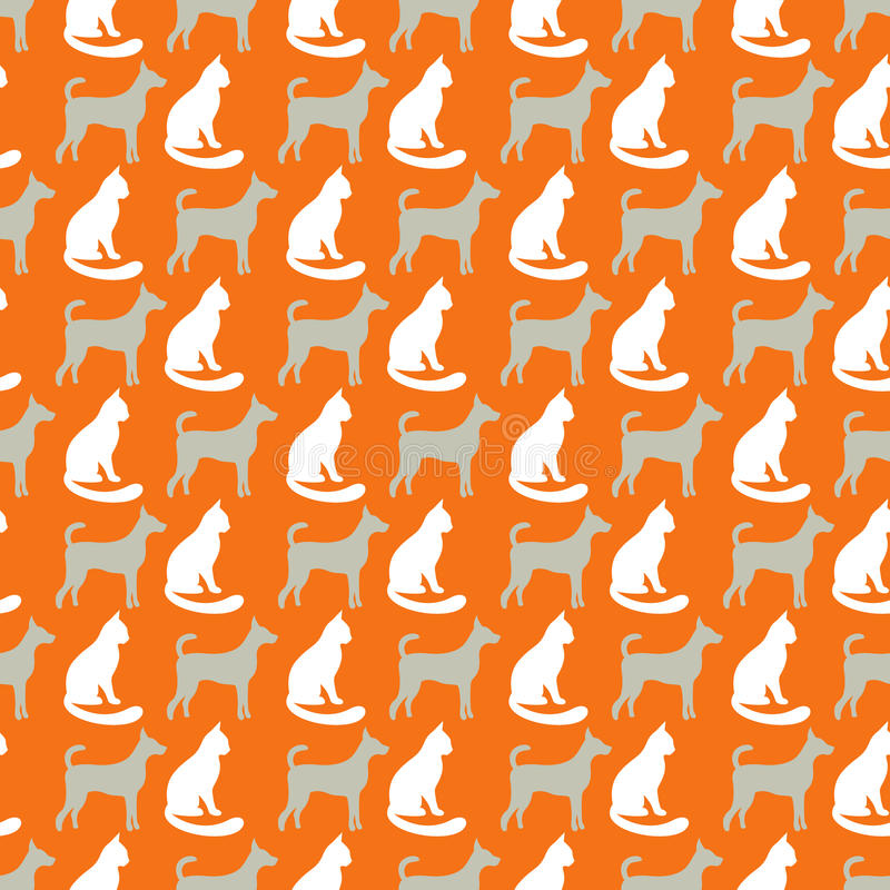 Animal seamless vector pattern of cat and dog vector illustration