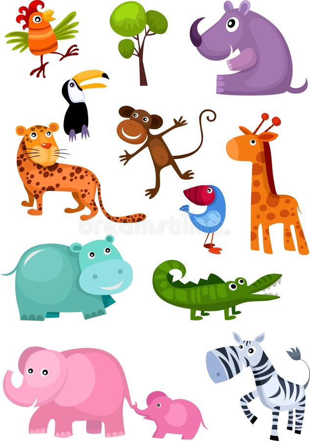 Animal set stock image