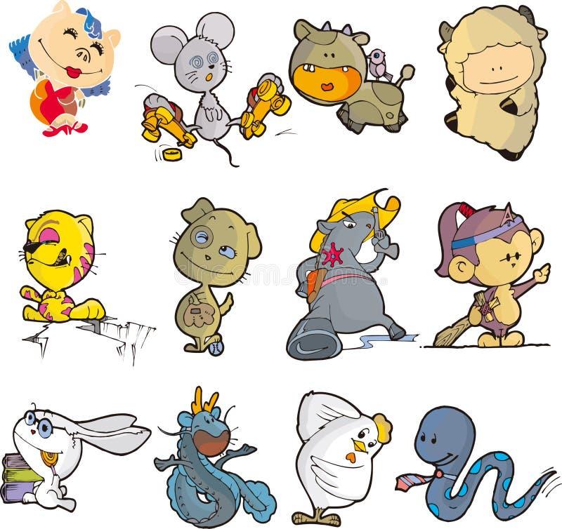 Download Animal set twelve stock illustration. Illustration of sword - 9480971