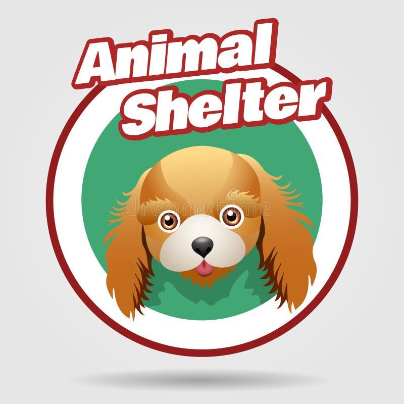 Animal Shelter emblem royalty free illustration