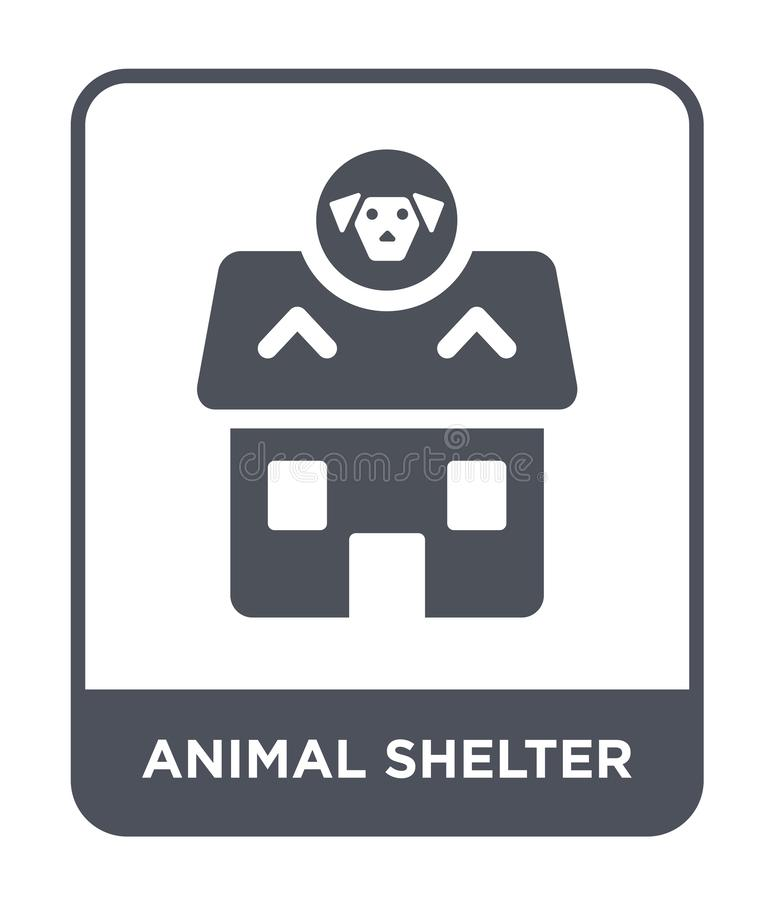 Animal shelter icon in trendy design style. animal shelter icon isolated on white background. animal shelter vector icon simple. And modern flat symbol for web stock illustration
