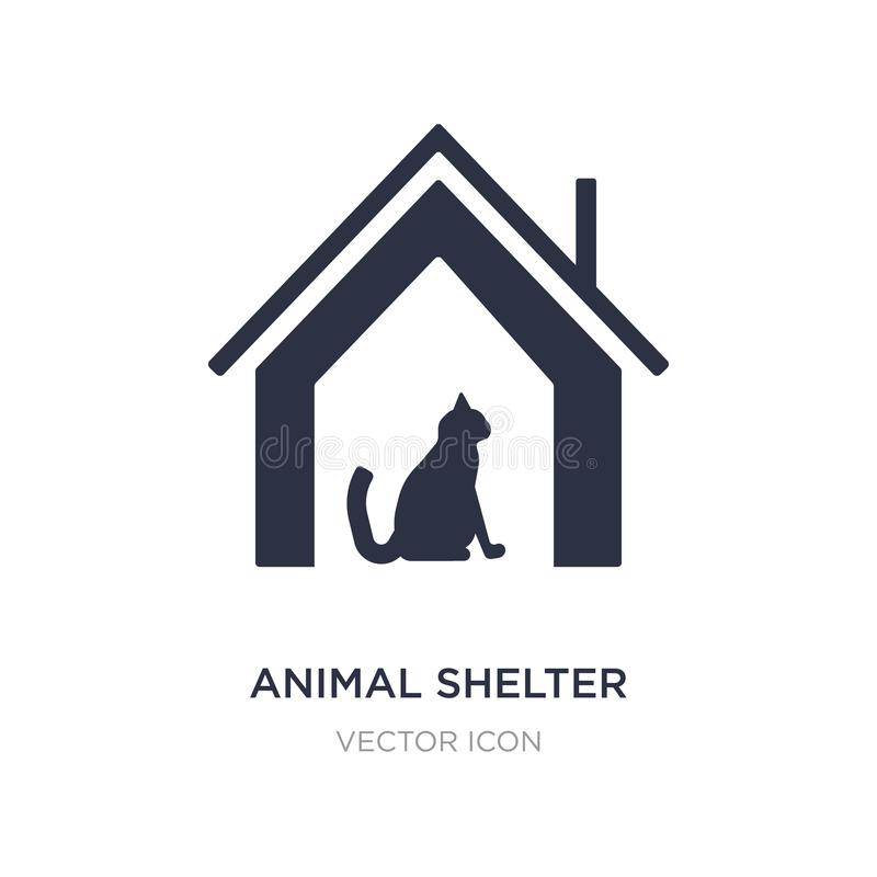 Animal shelter icon on white background. Simple element illustration from Charity concept. Animal shelter sign icon symbol design stock illustration