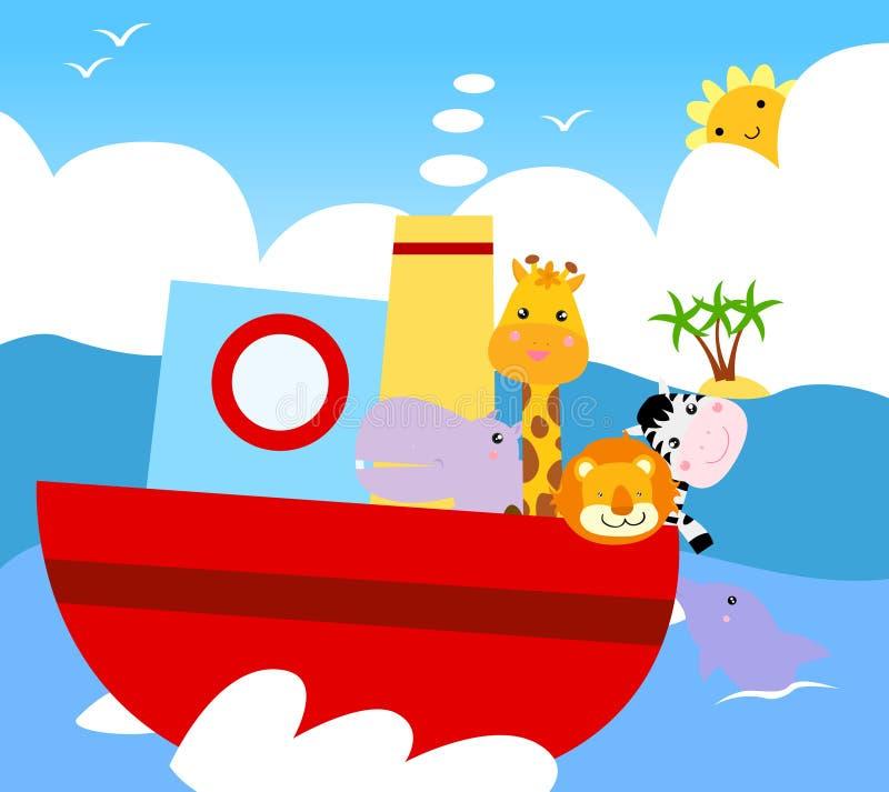 Animal ship stock illustration