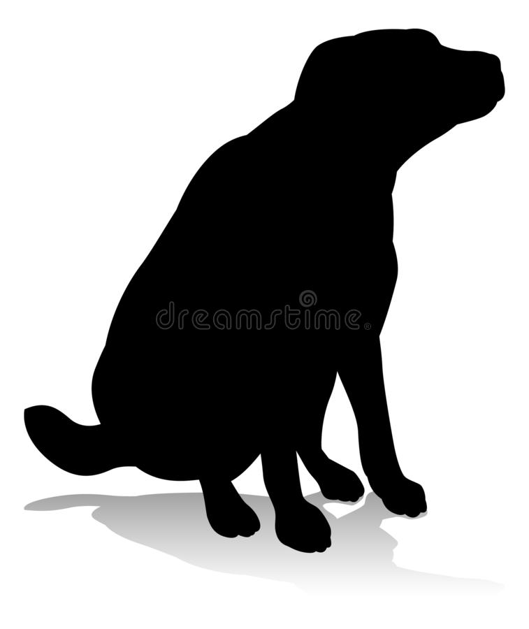 Dog Pet Animal Silhouette. An animal silhouette of a pet dog royalty free illustration