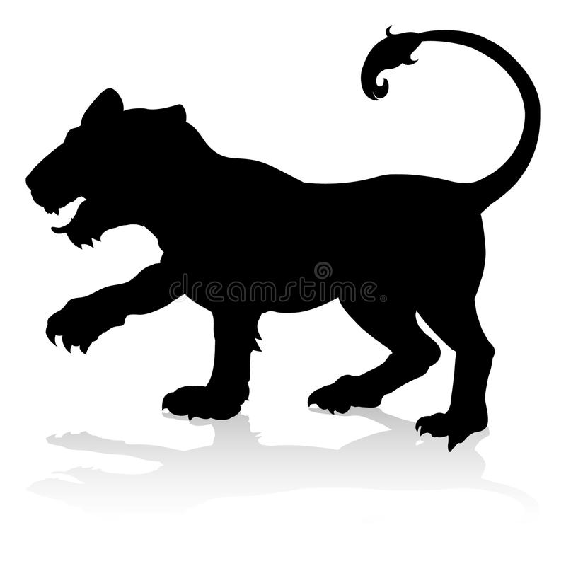 Tiger Animal Silhouette royalty free illustration