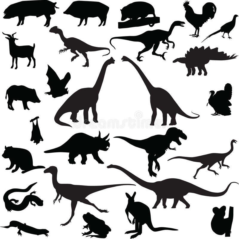Animal Silhouette Vector Stock Images