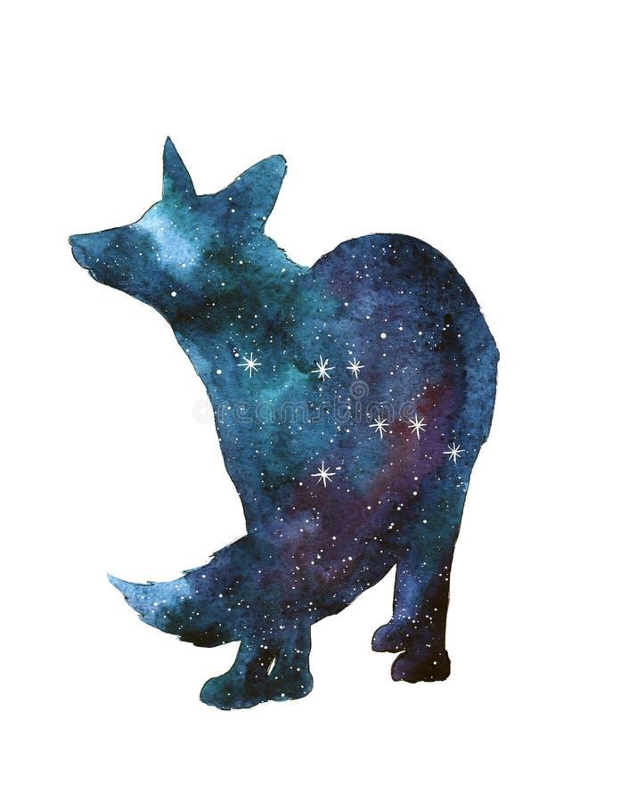 Free Animal Silhouette With Night Sky. Stars Royalty Free Stock Image - 212120186
