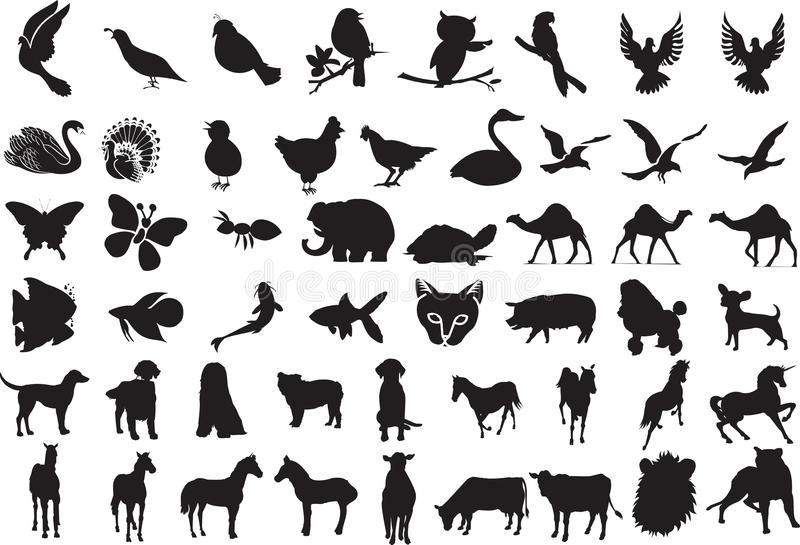 Animal Silhouettes vector illustration