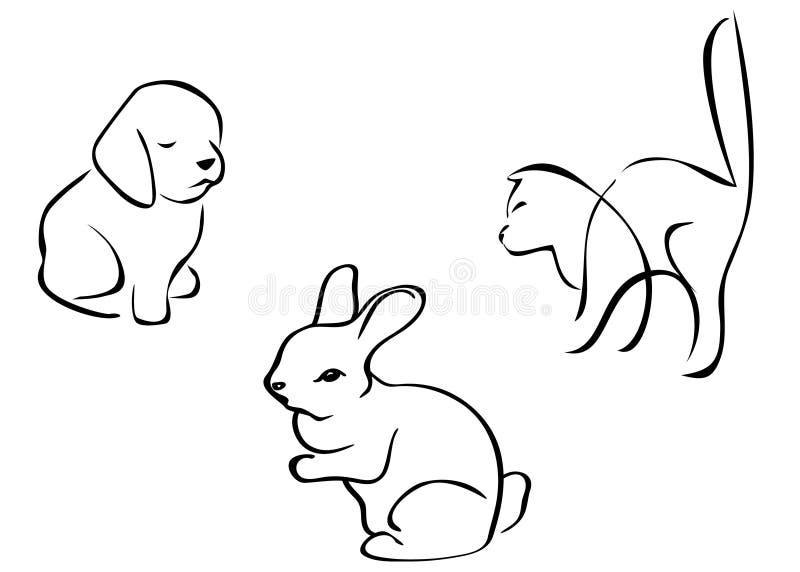Download Animal silhouettes stock vector. Illustration of rabbit - 13873034