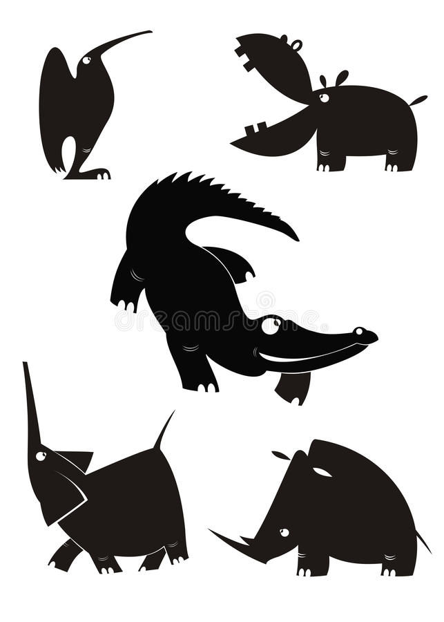 picture about Free Printable Forest Animal Silhouettes named Vector Animal Silhouettes Inventory Examples 11,315