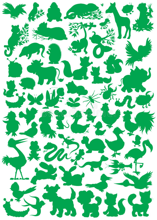 Download Animal silhouettes stock vector. Illustration of image - 9218233