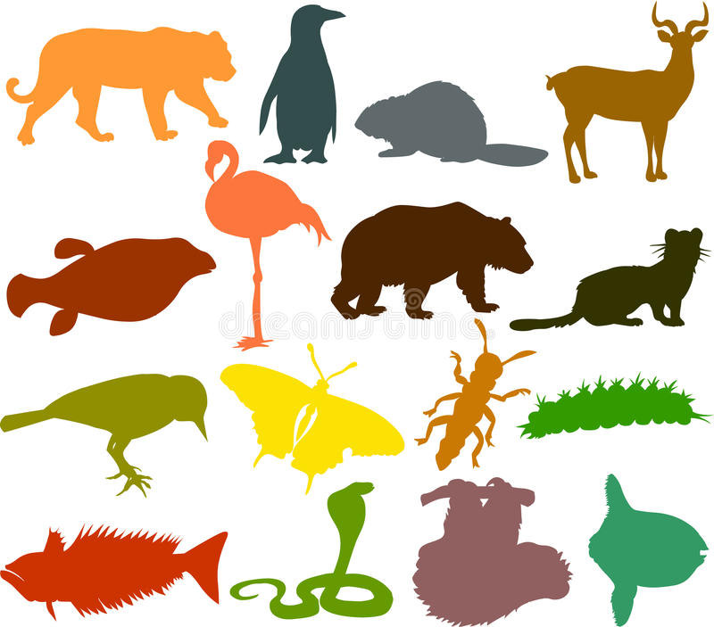Animal_silhouettes06 stock abbildung