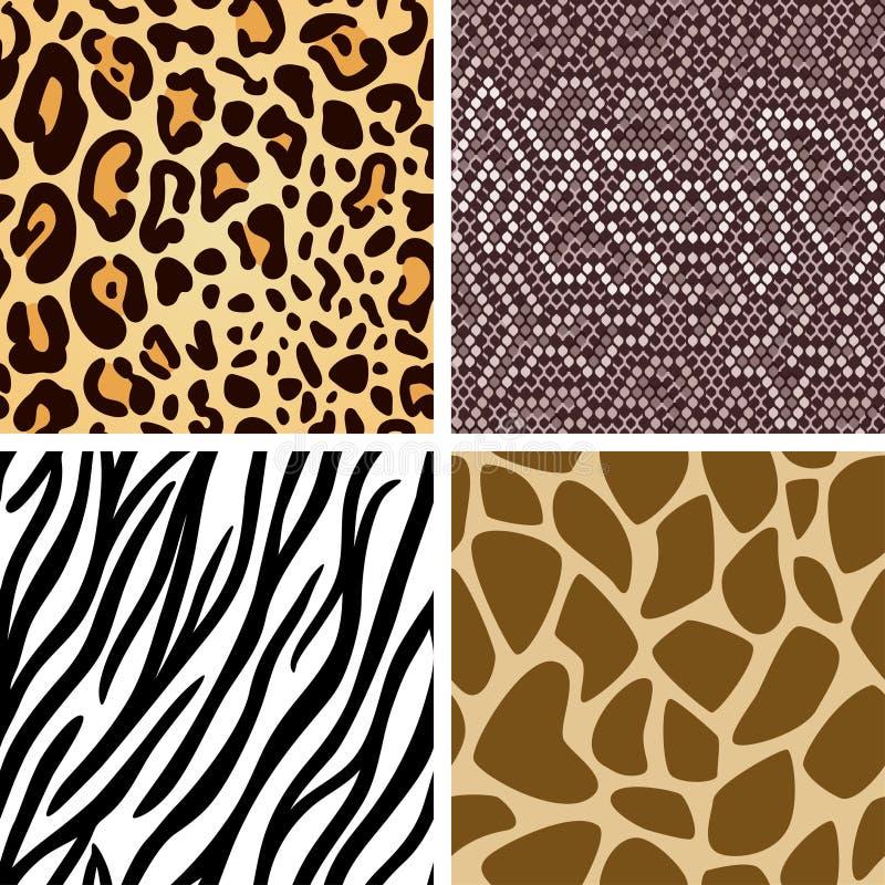 Animal skin seamless pattern collection royalty free illustration