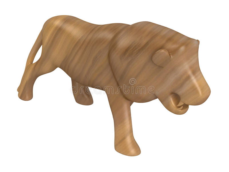 Animal_statuette ilustração stock