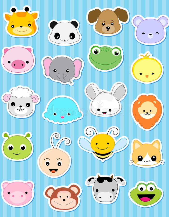 Animal sticker vector illustration