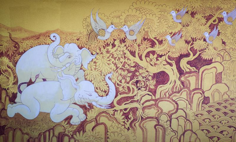 Animal tailandés de la pintura foto de archivo libre de regalías