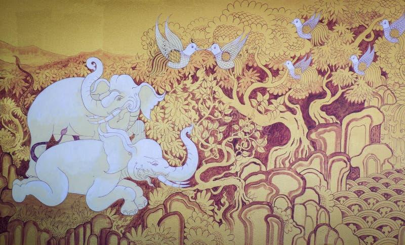 Animal tailandês da pintura foto de stock royalty free