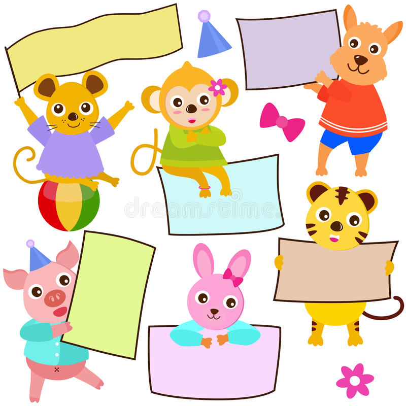 Download Animal Theme Of Cute Vector Icons / Tag Stock Vector - Illustration: 22226887