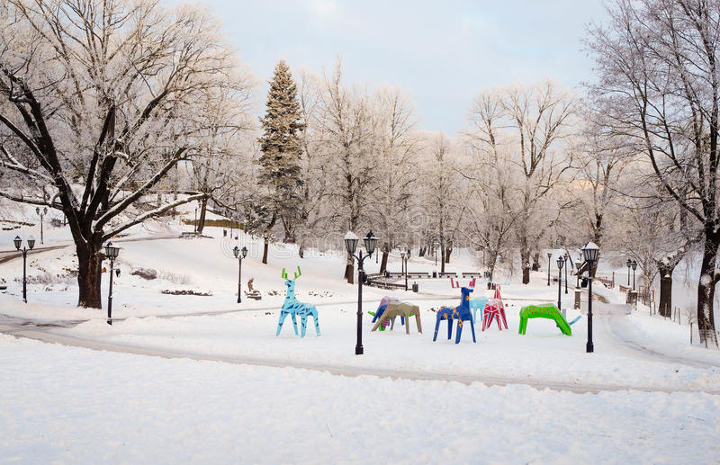 Download Animal-toys in city park stock image. Image of scenic - 83709233