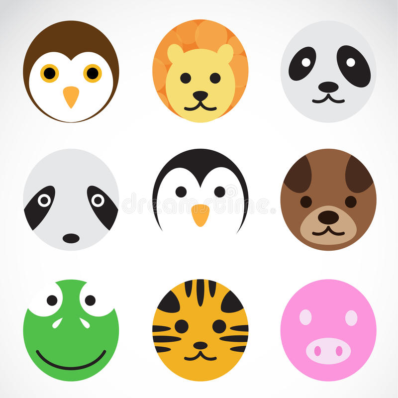 Animal vector icons. On white background royalty free illustration