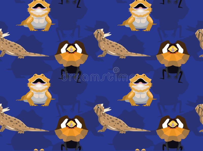 Lizard Dragon Cartoon Seamless Wallpaper. Animal Wallpaper EPS10 File Format royalty free illustration