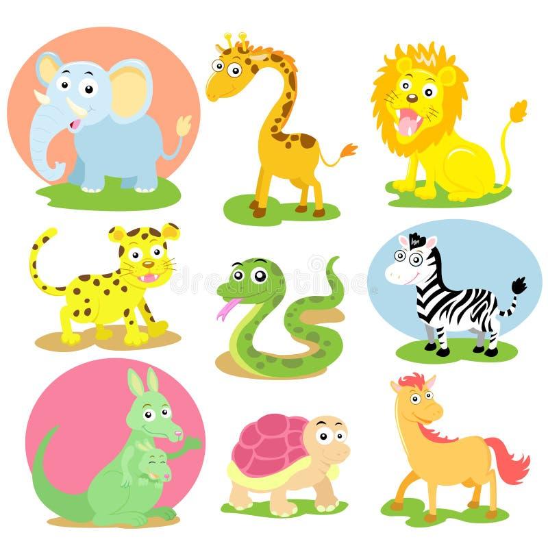 Animal wildlife set royalty free illustration