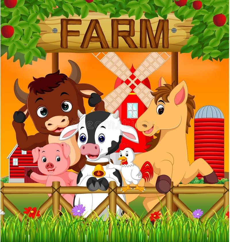 Animale della raccolta nell'azienda agricola royalty illustrazione gratis