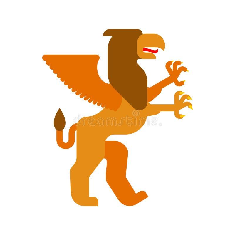 Animale di Griffin Heraldic Mostro fantastico della bestia per il cappotto dell'AR illustrazione vettoriale