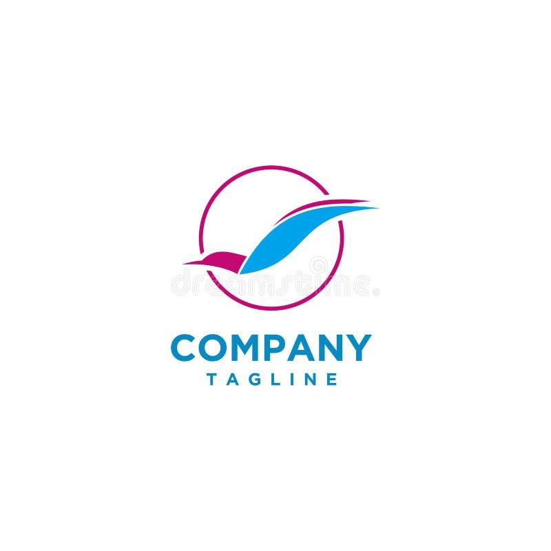 Animale di vettore di progettazione di logo dell'uccello illustrazione di stock