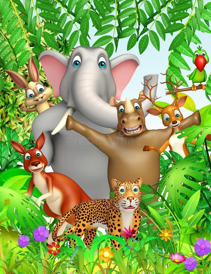 Animale selvatico illustrazione vettoriale