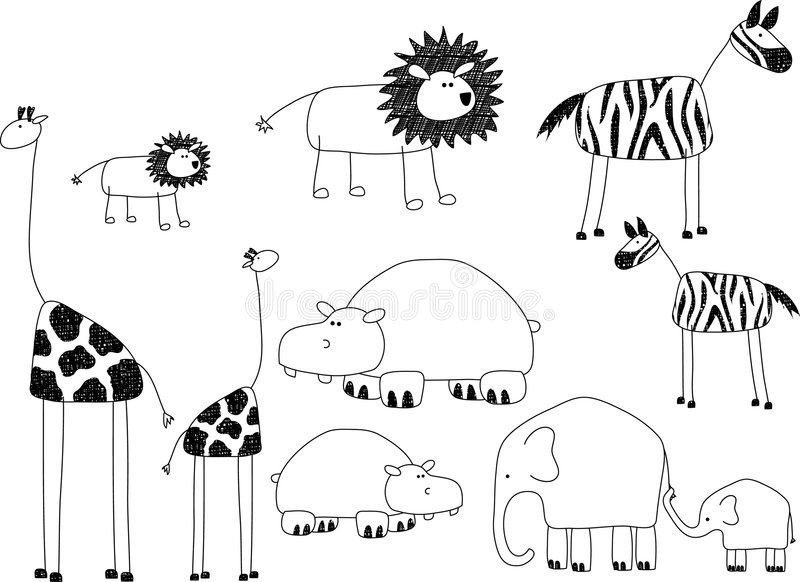 Animales africanos libre illustration