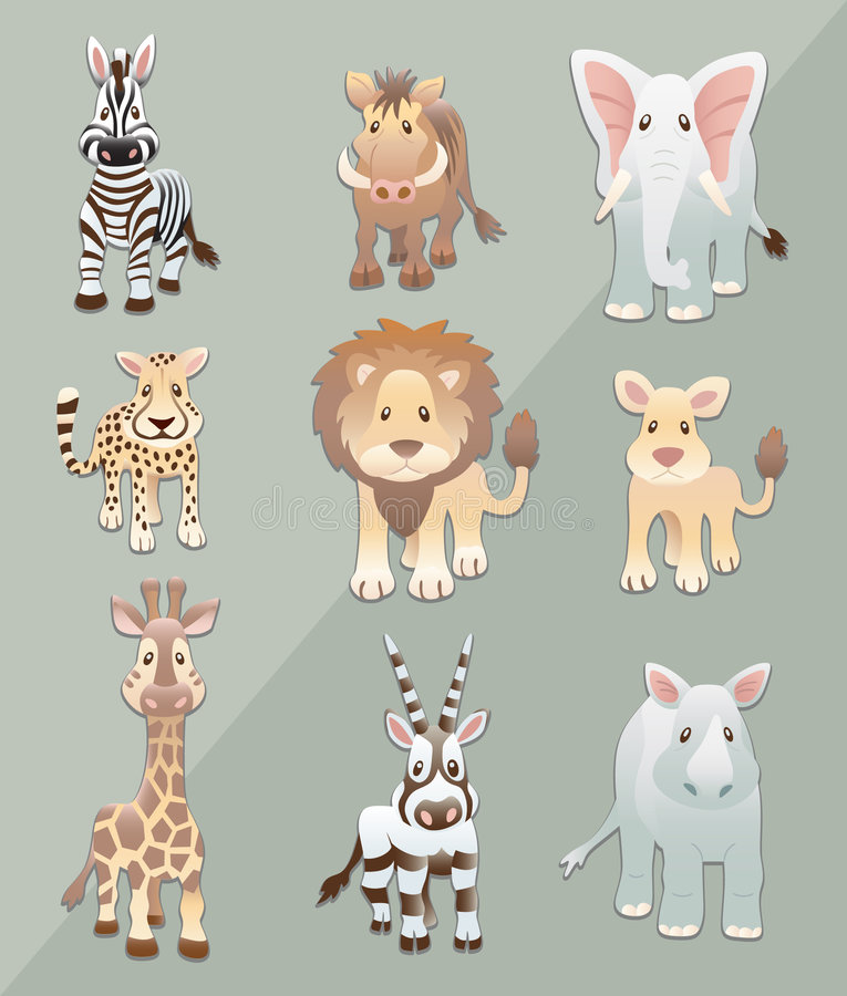 Animales africanos stock de ilustración