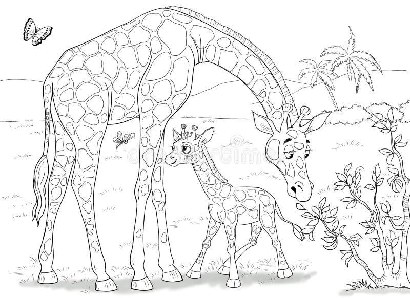 Animales africanos Cocodrilos lindos Ilustración para los niños fotografía de archivo
