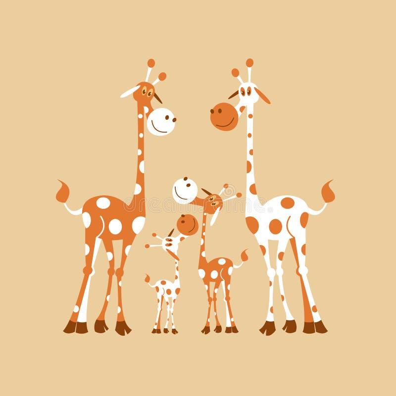 Animales africanos de la historieta stock de ilustración
