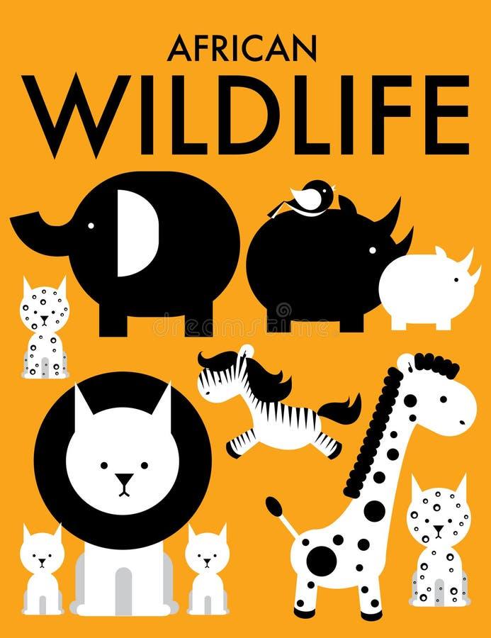 Animales Africanos /illustration Fotos de archivo libres de regalías